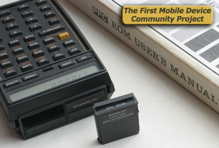 HP-41CX mobile computer/calculator with community developed PPC ROM software applications and synthetic code library
